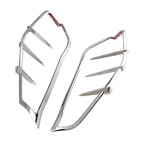 NTHREEAUTO Touring Mid-Frame Air Heat Wind Deflector Trim Accents Compatible with Harley Ultra Limited Low CVO Limited Road King Electra Glide Street Glide