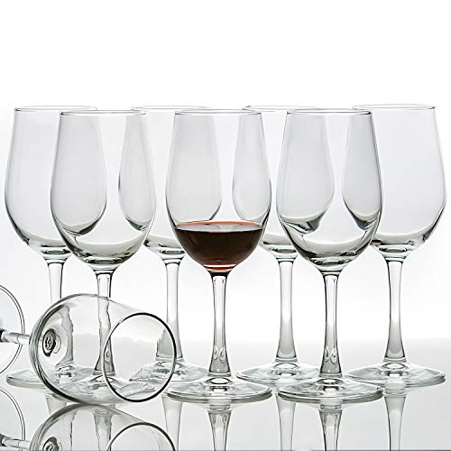 [Set of 8, 12 Ounce] All-Purpose Wine Glasses, Lead Free, Classic
