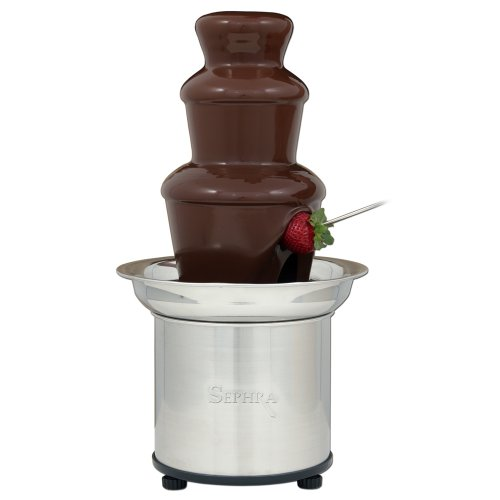 Sephra Select Chocolate Fountain Small 16-Inch Chocolate Fountain Machine for Melting Chocolate, Stainless Steel Heated Basin Chocolate Fountain for Kids and Parties, Whisper Quiet Motor, 4 To 6 LBS