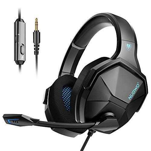 Jeecoo N13 Gaming Headset for PS4 Xbox One PC, Bass Surround Headphones with Noise Cancelling Microphone, Highly Breathable Ear Cups for Computers Mobile and More