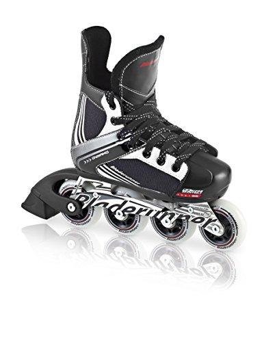 Bladerunner by Rollerblade Dynamo Jr Size Adjustable Hockey Inline Skate, Black and Red, Inline Skates, Black/White, Size 4 - 7