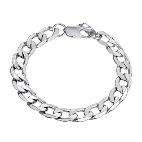 Cuban Link Bracelet for Men Trendy Curb Chain Teens Women Jewelry Fathers Day Gift Man Stainless Steel Chain Bracelets