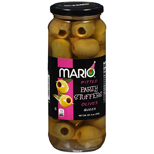 Mario Camacho Foods Pitted Queen Party Colossal Olives, 9 Ounce