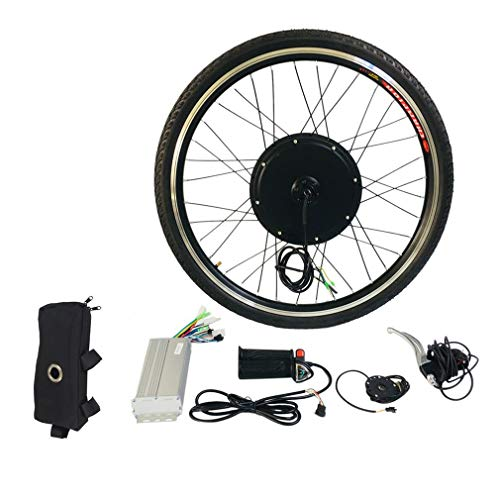 48V 1000W Electric E Bike Brushless Front Hub Motor Ebike Conversion Conversion Kit 26' Front Wheel Motor Bicycle Hub
