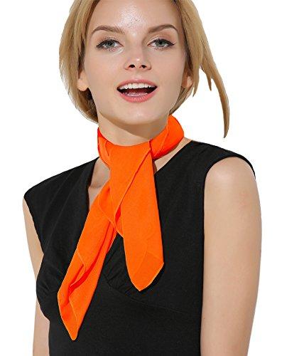 Orange Scarf Ascot Orange Bandana Vintage 50s Costume Accessories Head Scarf for women