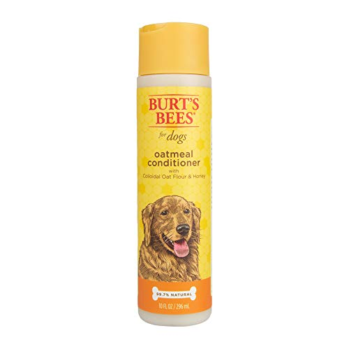 Burt's Bees for Dogs Natural Oatmeal Conditioner with Colloidal Oat Flour and Honey | Puppy and Dog Shampoo, 10 Ounces