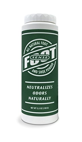 Natural Shoe Deodorizer Powder, Foot Odor Eliminator & Body Powder- for Smelly Shoes, Stinky Feet, Body Freshener. Use on Kids & Adults. Talc Free, Made in USA - FOOT SENSE (1 Pack)