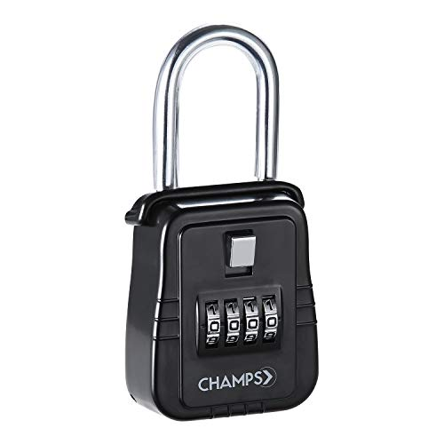 Champs Combination Realtor Lock, 4 Digit Key Padlock, Real Estate Key Lock Box, Set-Your-Own Combination
