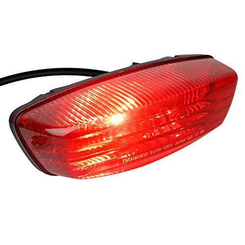 NTHREEAUTO 12V RED ATV Tail Light Motorcycle Taillights Brake Lights Compatible with 35710-03G30 2005-2014 Suzuki LT-F250, 2004-2010 LT-Z250, 2005-2008 LT-Z400