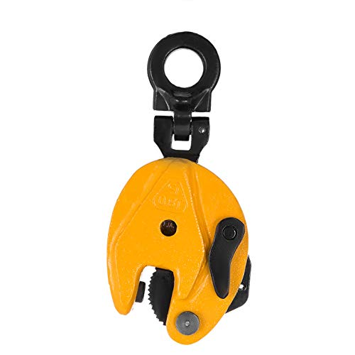 BestEquip 0.8T Plate Clamp 1763Lbs Plate Lifting Clamp Jaw Opening 0.6 inch Vertical Plate Clamp for Lifting and Transporting