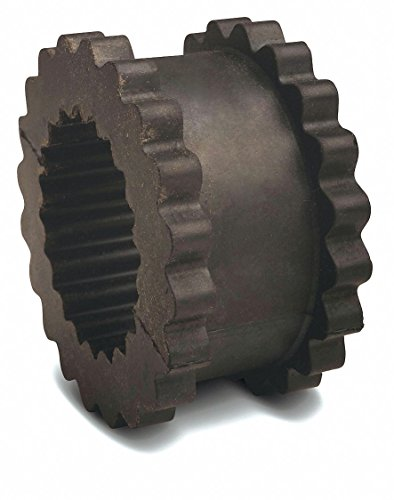 Tb Wood's 5 Size JN Flange Type One-Piece Solid Sleeve Coupling Insert, Rated Torque: 312 in.-lb. - 1 Each
