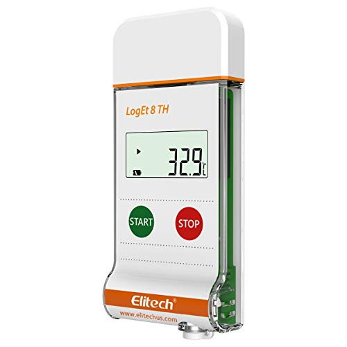 Elitech LogEt 8 TH Temperature and Humidity Data Logger Reusable PDF Report USB Port 16000 Points