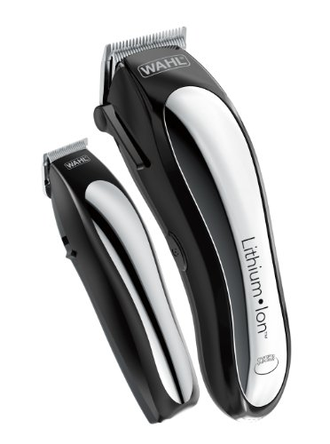 Wahl Clipper Lithium Ion Cordless Haircutting & Trimming Combo Kit – Rechargeable Electric Razor for Grooming Heads, Beards & All Body Grooming – Model 79600-2101