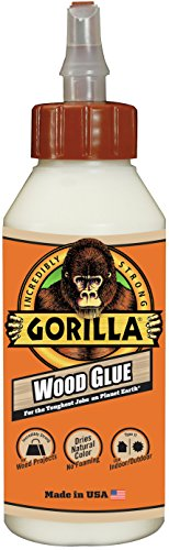 Gorilla Wood Glue, 8 ounce Bottle, (Pack of 1)