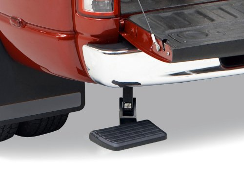 AMP Research 75306-01A BedStep Retractable Bumper Step for 2009-2018 Ram 1500, 2010-2018 Ram 2500/3500 (Excludes Dual Exhaust & EcoDiesel Models),Black