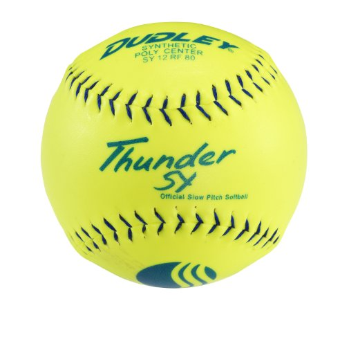 Dudley USSSA Thunder SY Slowpitch Classic M Stamp Softball - 12 Pack