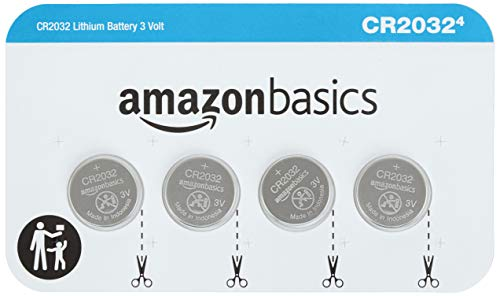 AmazonBasics CR2032 3 Volt Lithium Coin Cell Battery - 4-Pack