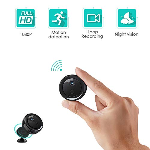 Spy Camera Hidden Wireless Camera WiFi Mini HD 1080P Portable Home Security Cameras Covert Nanny Cam Small Indoor Outdoor Video Recorder Motion Activated Night Vision