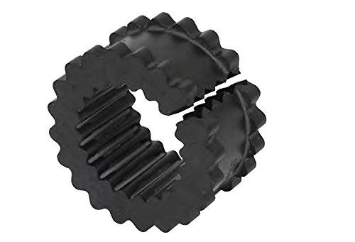 Lovejoy 36698 Size 5JES Split Design S-Flex Coupling Sleeve, EPDM Rubber, 2.94' OD, 1.56' Elastomer Length, 240 in-lbs Nominal Torque