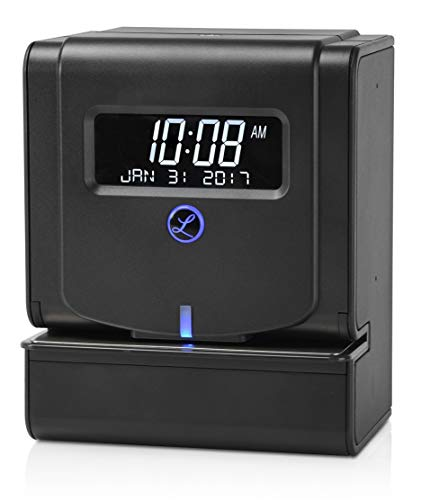 Lathem Heavy Duty Maintenance-Free Thermal Print Time Clock (2100HD), Black, 9.8' x 6' x 8'
