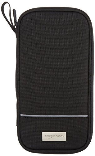 AmazonBasics RFID Travel Passport Wallet Organizer - 10 x 5 Inches, Black