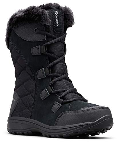 Columbia Women's ICE Maiden II Snow Boot, Black, Grey, 9.5 B US