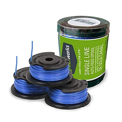 Greenworks Replacement Spools for Greenworks Cordless Trimmers (3 pack), Model Number 29252