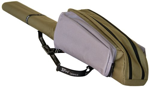 BW Sports Dual Spinning Rod and Reel Case for (9 ft.) 2-Piece Spinning Rods or Baitcasting Rods - RC 2090, Large (RC-2090)