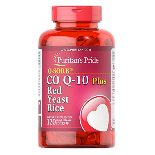 Q-Sorb CoQ10 Plus Red Yeast Rice,120 Rapid Release Softgels by Puritan's Pride