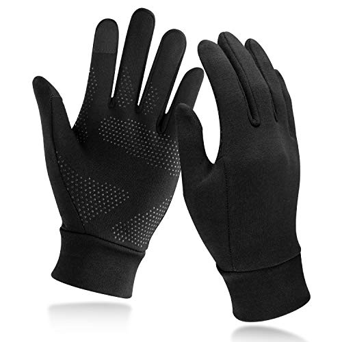 Unigear Running Gloves, Touch Screen Anti-Slip Lightweight Gloves Liners for Cycling Biking Sporting Driving for Men Women (Large)