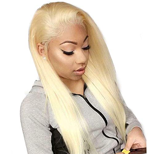Beauhair 613 Blonde Straight Human Hair Wigs For Women With Baby Hair Lace Front Wigs Brazilian Virgin Human Hair Glueless Lace Wig(13×4 Lace Wig 18inch)