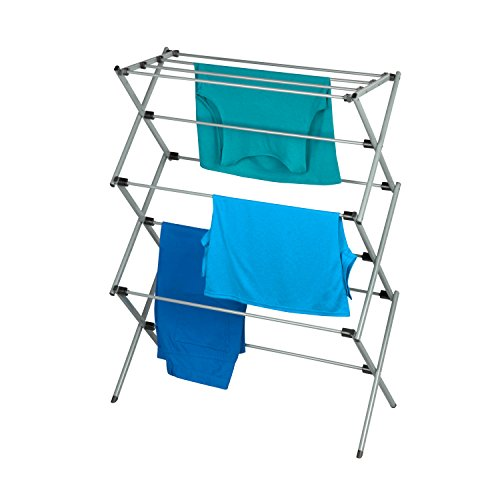 Honey-Can-Do Large Folding Drying Rack, Silver/White
