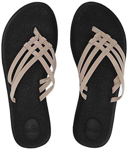 Sanuk Women's Yoga Salty Flip-Flop, natural, 07 M US