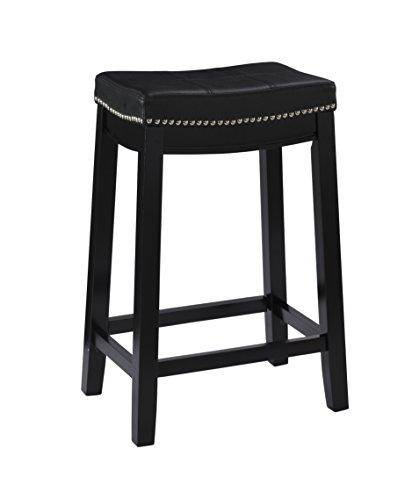 Linon Claridge Counter Stool, Black, 26' x 18' x 12.75'