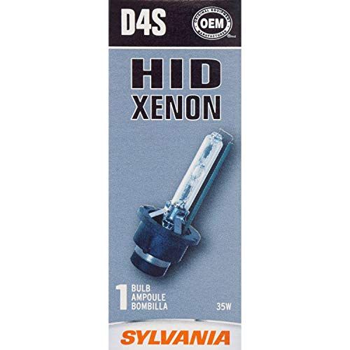 SYLVANIA - D4S Basic HID (High Intensity Discharge) Headlight Bulb - High Performance Bright, White, and Durable Lamp (Contains 1 Bulb)