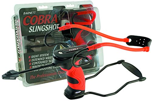 Barnett 160433  Outdoors Cobra Slingshot with Stabilizer and Brace,Red/Black