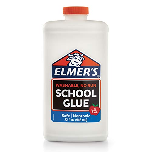 Elmer's Liquid School Glue, White, Washable, 32 Ounces - Great for Making Slime