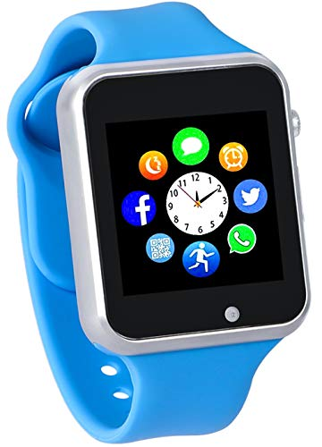 Smart Watch for Kids Boys Girls with Pedometer Camera Unlocked 2G GSM (Blue)