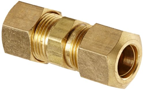 Anderson Metals 50062 Brass Compression Tube Fitting, Union, 3/8' x 3/8' Tube OD