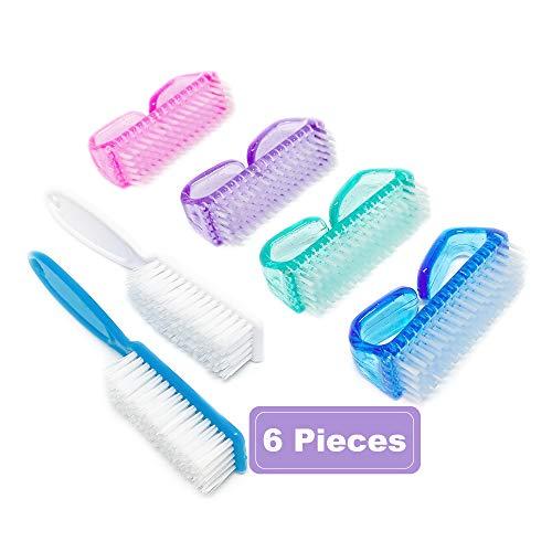 Nail Brush Fingernail Brush Cleaner Hand Scrub Cleaning Brush for Toes Shower (Four Colors)
