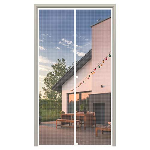 MAGZO Magnet Screen Door 36 x 80, Magnetic Mesh with Heavy Duty for Sliding Door Fits Door Size up to 36'x80' Max-White