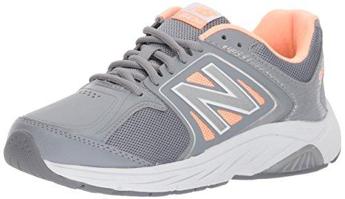 New Balance Women's 847 V3 Walking Shoe, Grey/Pink, 9 W US