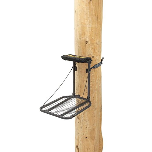"""Rivers Edge RE553, Big Foot Traveler, Lever-Action Hang-On Tree Stand with Padded Flip-up Seat, Compact 27.5"""" x 18"""" Platform,Black"""