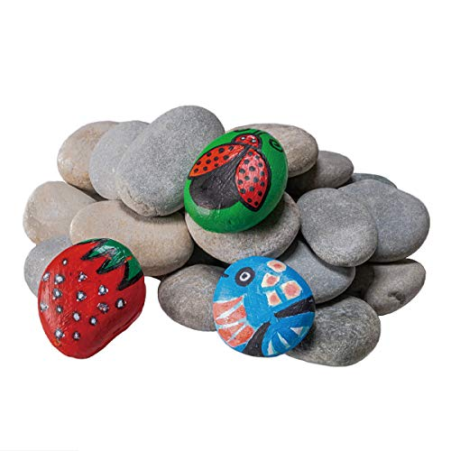 YEAHOME River Rocks for Painting, Smooth Unpolished Stones Kit Assorted Size and Diameter Around 2-4in, Perfect for Easy Painting and Crafting, Gift for Kids and Adults Outdoor Rock Art Garden Decor