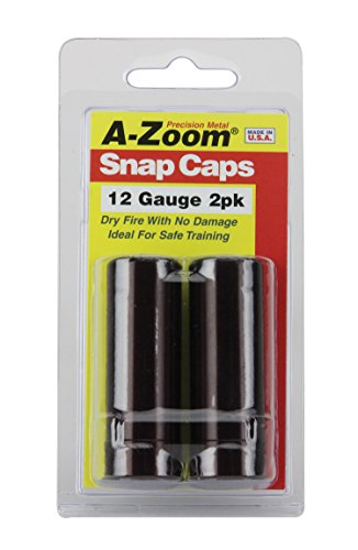 A-ZOOM 12 Gauge Snap-Cap 2PK, Red (12211)