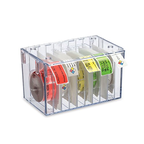 Stack-n-Connect Label Dispenser 10-Roll Includes 9 dividers/Accommodates 500- and 1000-label Rolls 8.25'W x 5.5'D x 5'H