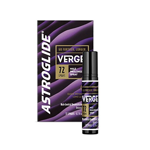 Astroglide Verge Prolonging Delay Spray & Desensitizing Spray for Men, 0.2 fl. oz.