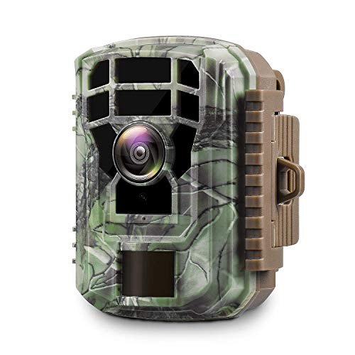 "2020 Upgrade Campark Mini Trail Camera 16MP 1080P HD Game Camera Waterproof Wildlife Scouting Hunting Cam with 120° Wide Angle Lens and Night Vision 2.0"" LCD IR LEDs"