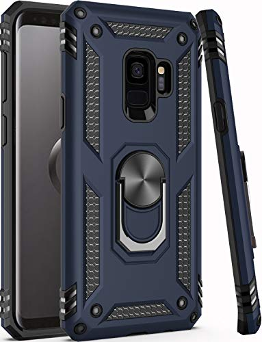 Galaxy S9 Case,ZADORN 15ft Drop Tested,Military Grade Heavy Duty Armor Protective Cover with Hard PC and Soft Silicone Kickstand Phone Case for Samsung Galaxy S9 (Small Size 5.8') Blue