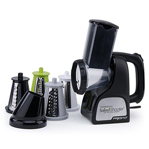 Presto 02970 Professional SaladShooter Electric Slicer/Shredder, Black